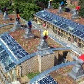 Solar panels incorporated into rooflights